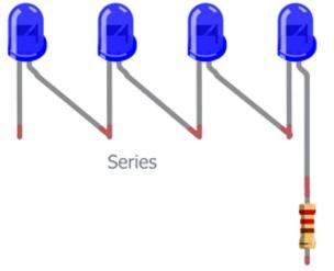 اتصال مقاومت به Led در تابلو ثابت