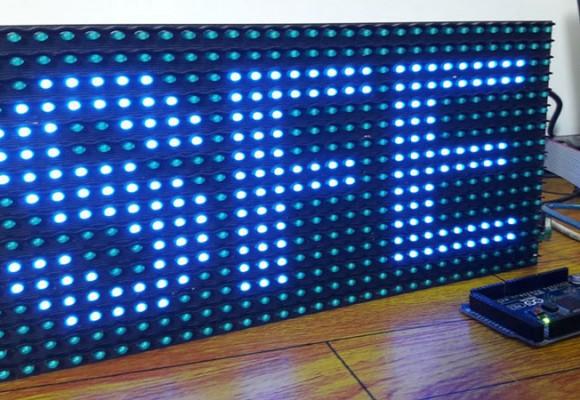 آموزش راه اندازی ماژول LED P10 تابلو روان با AVR آردوینو